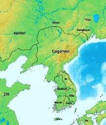 Goguryeo, mai intins, in 315 e.n.
